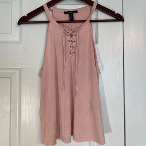 FOREVER 21, Laced Pink Tank Top - Size M